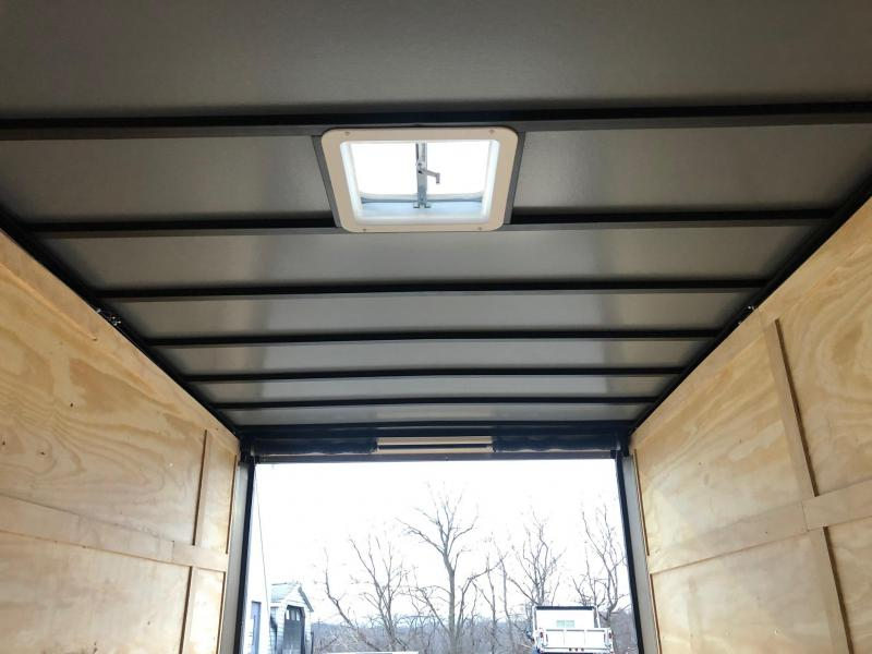 SPARTAN CARGO 2020 7X14 TANDEM AXLE CHARCOAL SEMI SCREWLESS ENCLOSED TRAILER