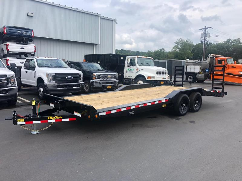 "BIGTEX 2020 7' X 22' 10DF-22 102"" x 22' Pro Series Tandem Axle Equipment/Car Hauler"