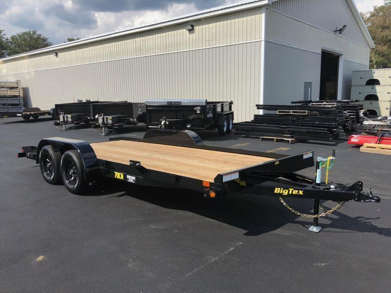 BIGTEX 2020 70CH 7' X 18' TANDEM AXLE CAR HAULER/ EQUIPMENT TRAILER