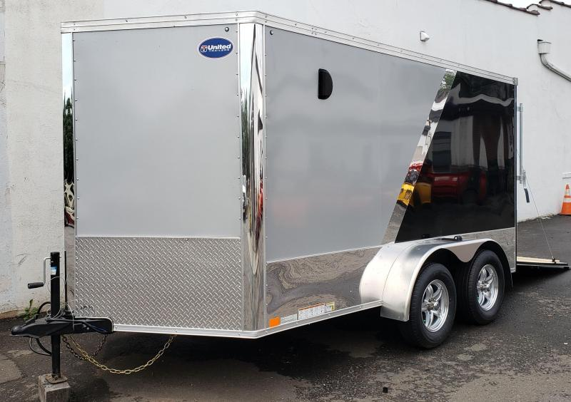 2020 United Trailers 7 X 12 Tandem Axle Motorcyle Trailer