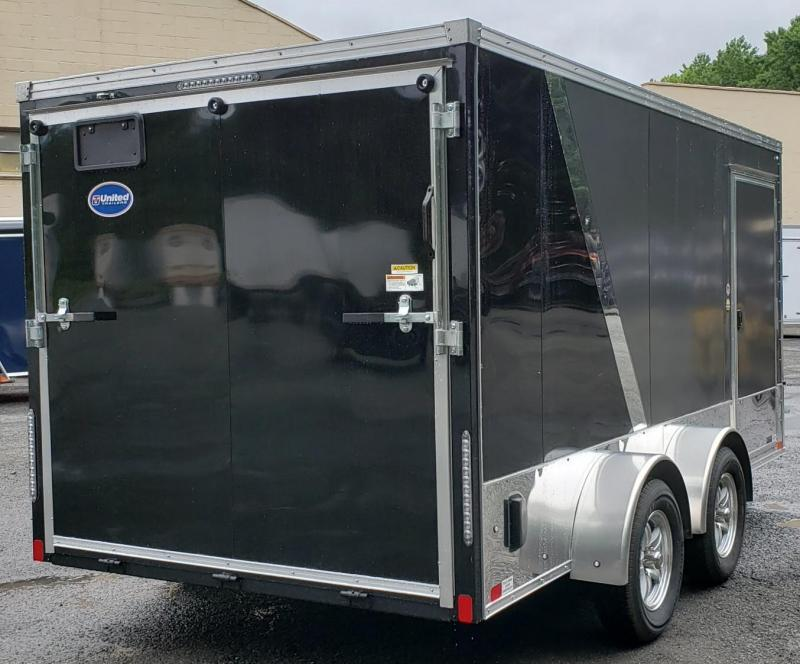 2020 United Trailers 7 X 14 Tandem Axle Motorcycle Trailer