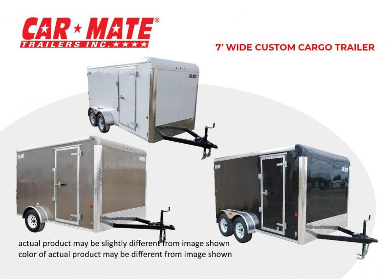 2018 Car Mate 7 X 14 7' Wide Custom Cargo Trailer with Landscape Package