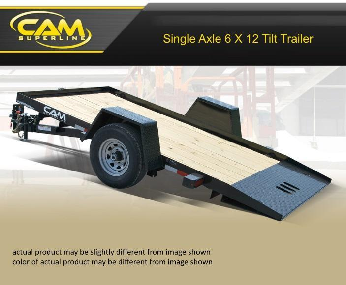 2020 Cam Superline 6 X 12 Single Axle Tilt Trailer