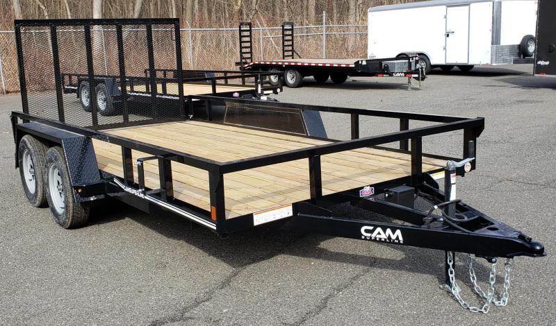 2020 Cam Superline 7 X 14 Tube Top CAM Utility 7K Tandem