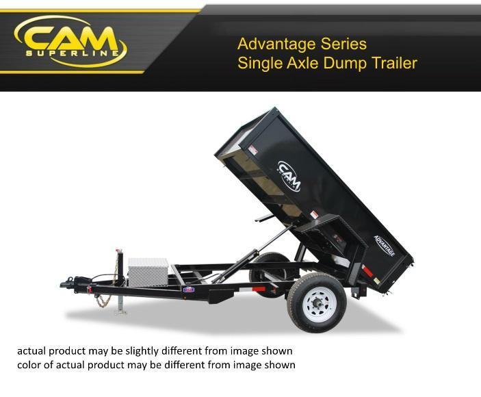 2021 Cam Superline 5 X 8 Advantage Series Single Axle Dump Trailer