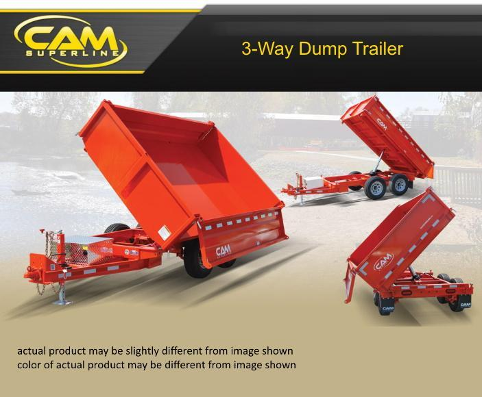 2019 Cam Superline 6 X 10 3-Way Dump Trailer