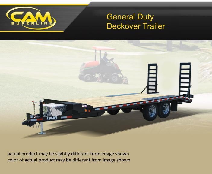 2020 Cam Superline 8.5 X 16 General Duty Deckover Trailer