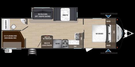 2019 Dutchmen Manufacturing AEROLITE 2923BH Travel Trailer