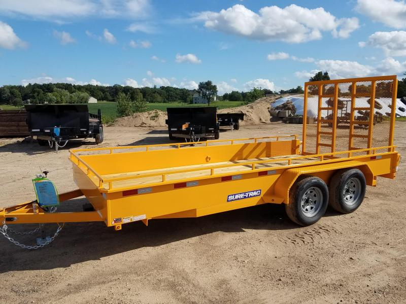 2020 Sure-Trac 7 x 16 Steel High Side  7K Tandem