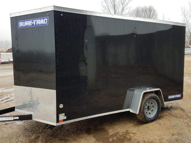 2020 Sure-Trac 7 X 12 Enclosed Wedge  Single Axle