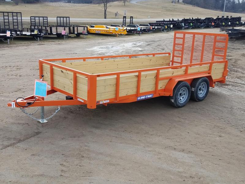 2020 Sure-Trac 7 X 16 Tube Top Three Board  7K Tandem