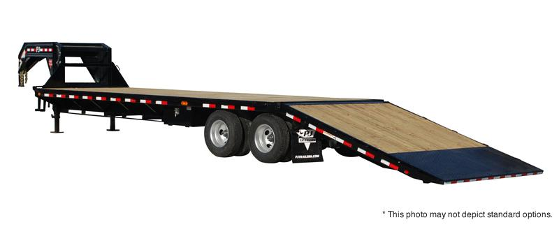 2019 PJ Trailers 32' Flatdeck with Hydraulic Dove Trailer