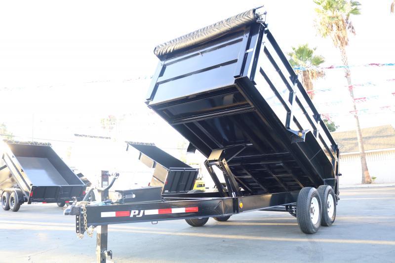 2020 PJ Trailers 14x83 dm low pro 14000 Dump Trailer