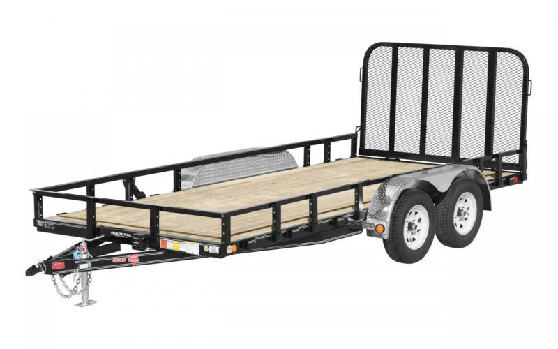2020 PJ Trailers 16x7x1 Tandum Axle Channel Utility Flatbed Trailer