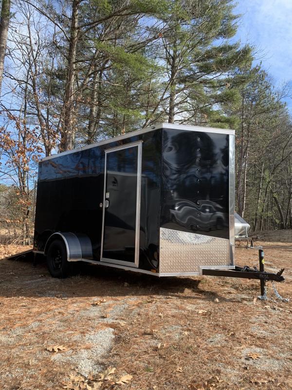 SALE 2020 Spartan 6x12 +2ft V trailer ramp door/stabilizers