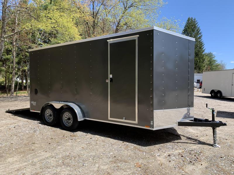 "2021 Pace 7x16 +2ft V-nose trailer with 12"" extra height"
