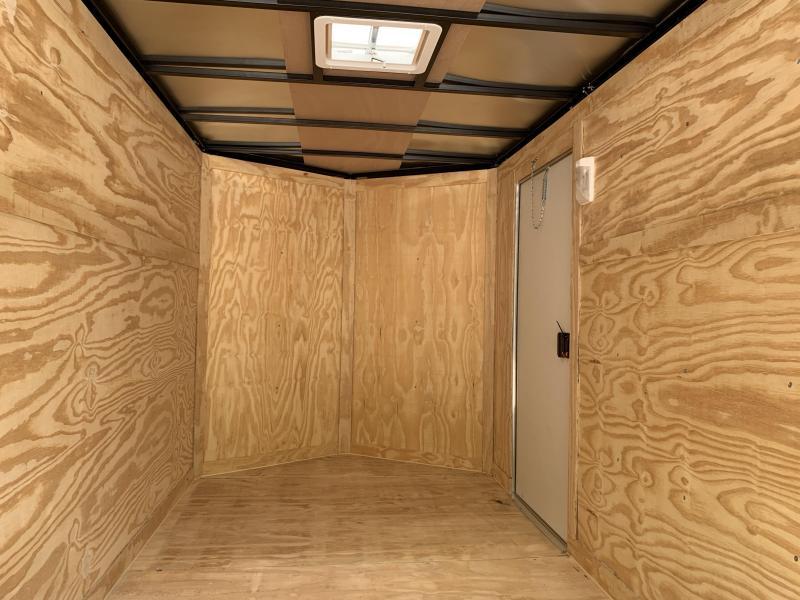 "2020 Spartan 6x10 +2ft V trailer ramp door/6"" extra height"