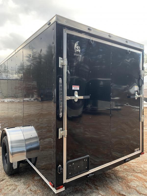 """SALE 2020 Spartan 6x12 +2ft V trailer ramp door/6"""" extra"""