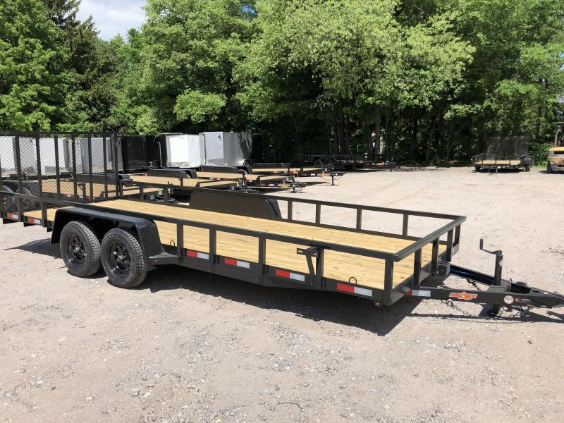 2020 Down 2 Earth 7x20 tube steel Utility Trailer/7000gvwr