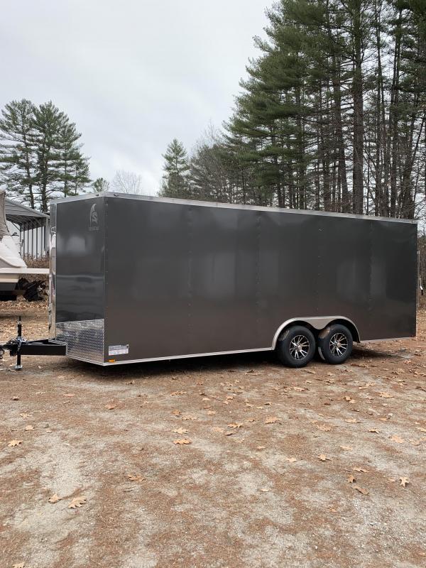 "2020 Spartan 8.5x20 +2ft V trailer 9990gvwr 12"" Extra height/alum. wheels"