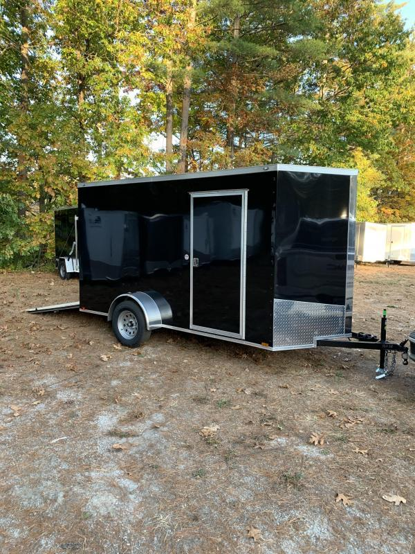 "new 2020 Spartan 6x12 +2ft V nose trailer ramp door/6"" extra height"