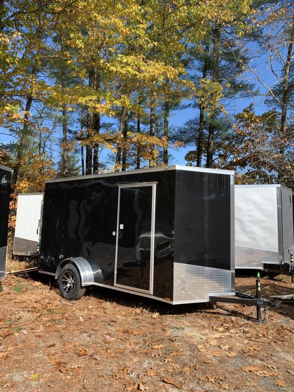 "new 2020 Spartan 6x12 +2ft V nose trailer ramp door/6"" extra height"