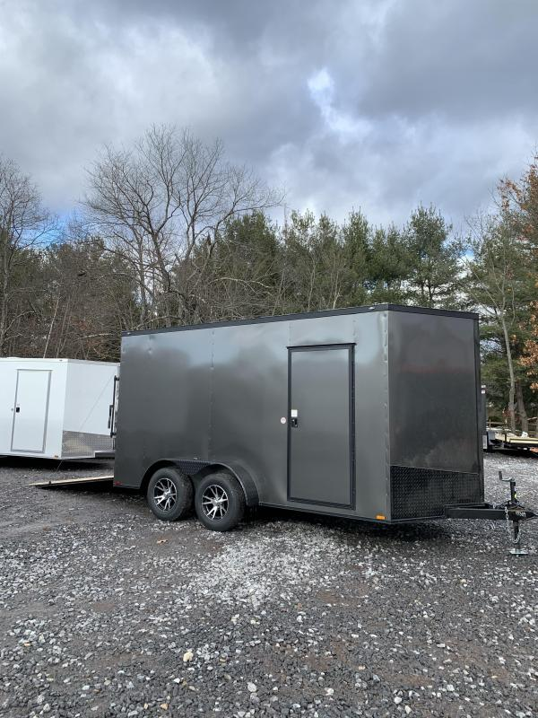 "SALE 2020 Spartan 7X14 +2ft V trailer ramp door/12"" extra height"
