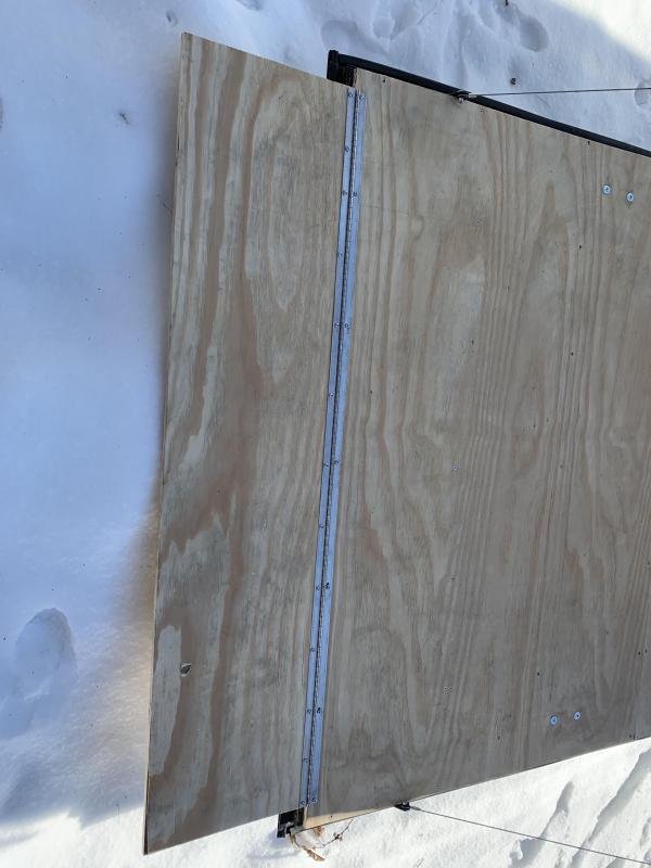 "2020 Spartan 7X14 +2ft V trailer ramp door/12"" extra height"