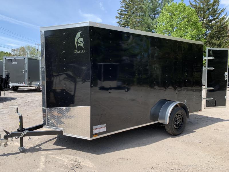 2020 Spartan 6x12 +2ft V trailer double doors/undercoated
