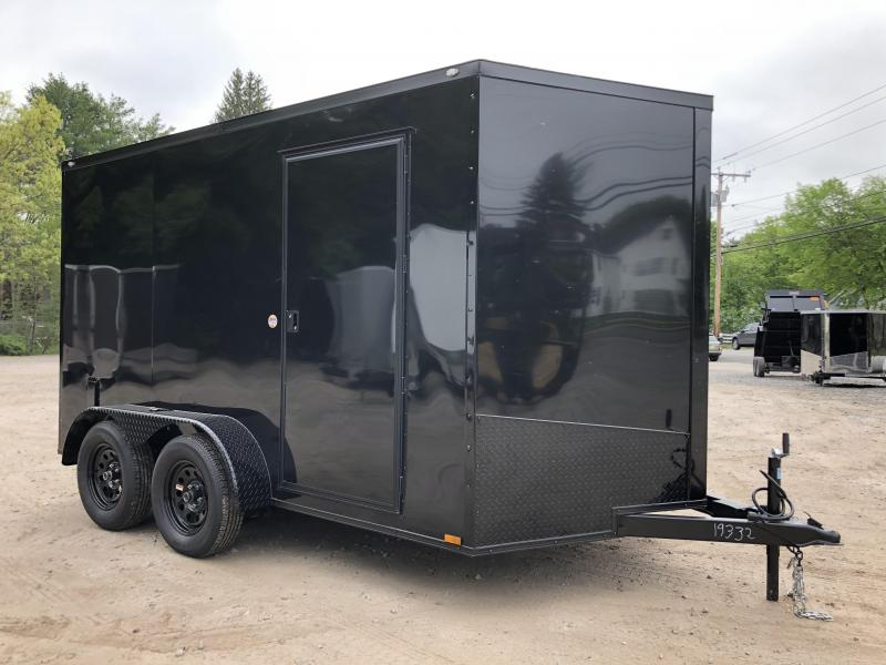 "2020 Spartan 7X12 +2ft V trailer blackout edition/6"" extra height"