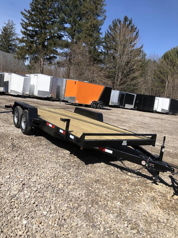 2019 D2E trailer 7x18 Car hauler 7k gvwr/w. dexter axles