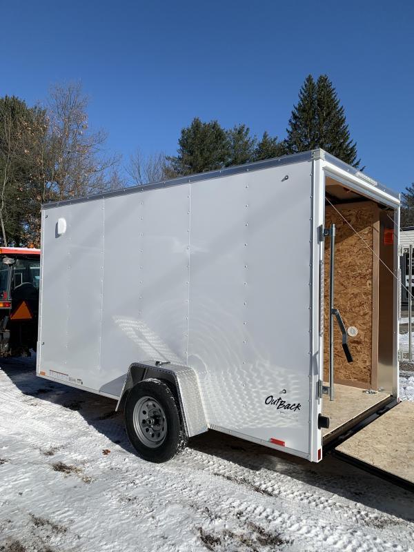 "2020 pace 6X12 +2ft V trailer ramp door/undercoated/6"" extra"