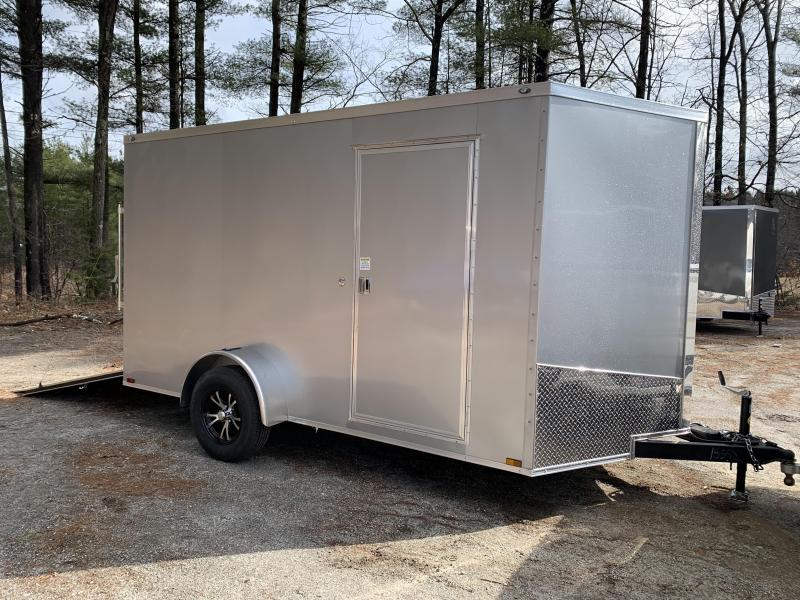 "2020 Spartan 7X12 +2ft V trailer ramp door/12"" extra height"