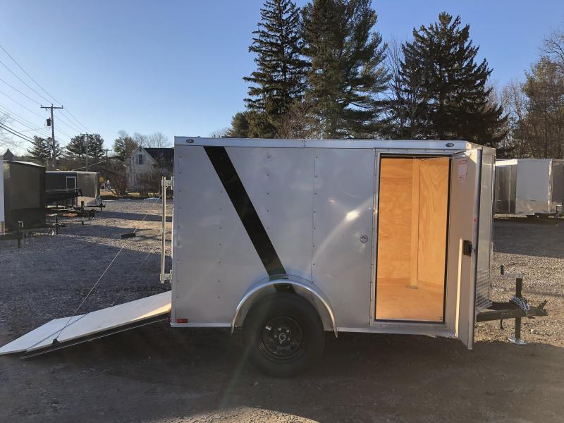 "2020 Spartan 5X8 +2ft V trailer ramp door/undercoated/6"" extra"
