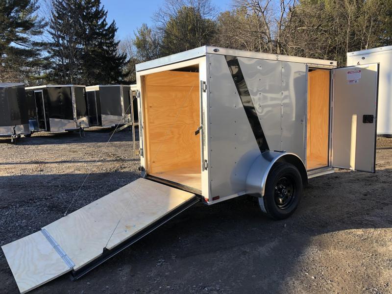 """2020 Spartan 5X8 +2ft V trailer ramp door/undercoated/6"""" extra"""