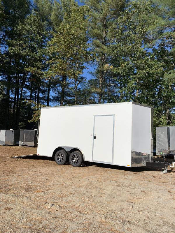 "2020 spartan 8.5x16 trailer w/18"" extra height/ alum wheels"