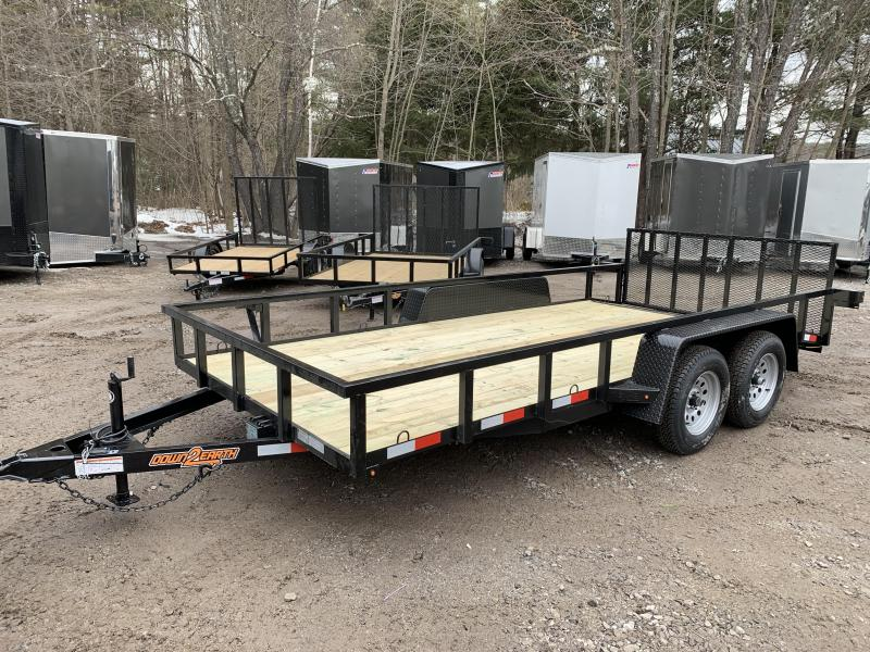 2020 D2E 7x16 7000 gvwr dual axle trailer/dove tail