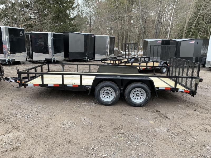 2020 D2E 7x16 7000 gvwr dual axle trailer/dove tail/tube steel