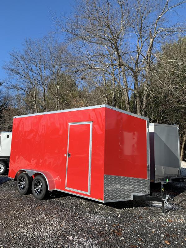 "2020 Spartan 7X14 +2ft V trailer ramp door/18"" extra height"