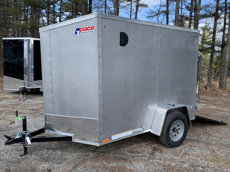 "2021 Pace American DLX 5X8 / 2ft v-nose / 12"" extra height"