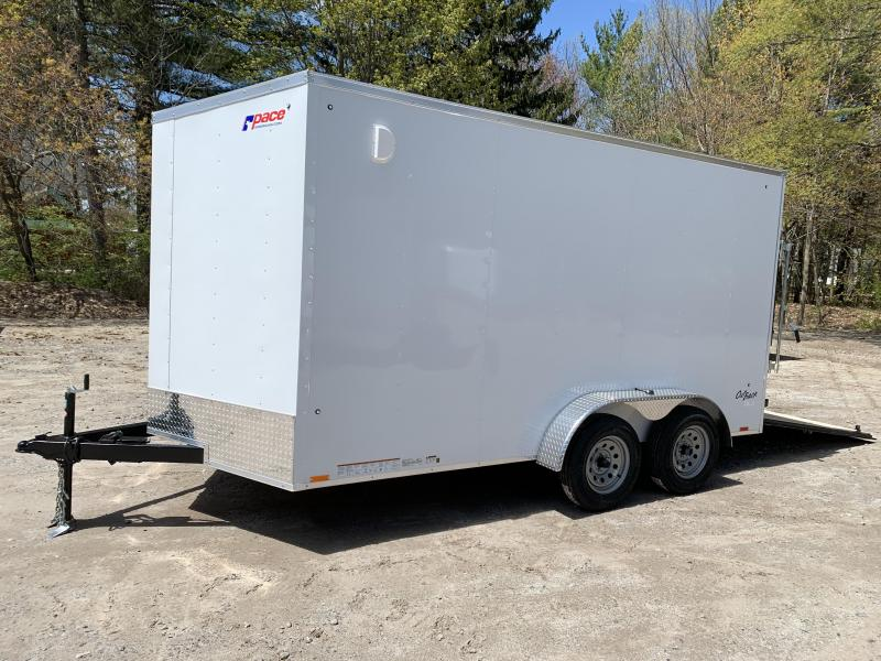 "2021 Pace 7x14 +2ft V-nose trailer with 12"" extra height"