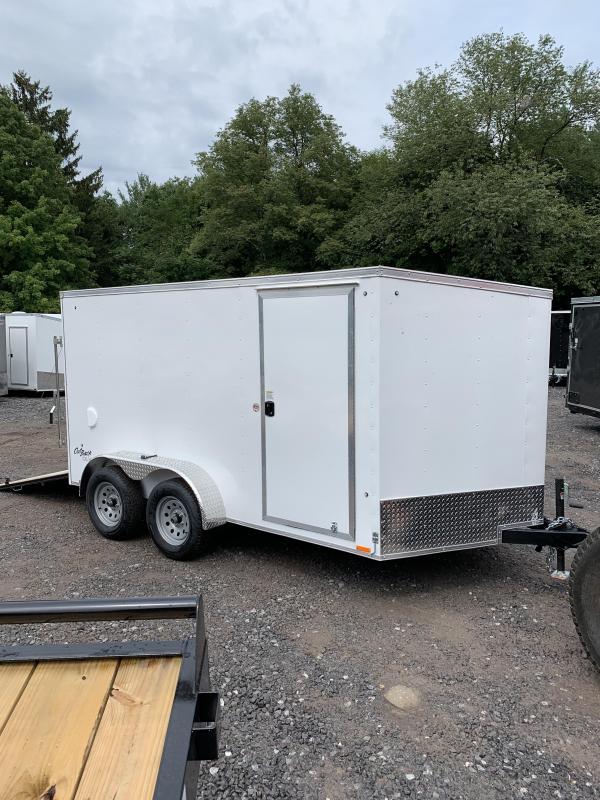 New PACE 7X12 +2ft V trailer ramp door/undercoated frame