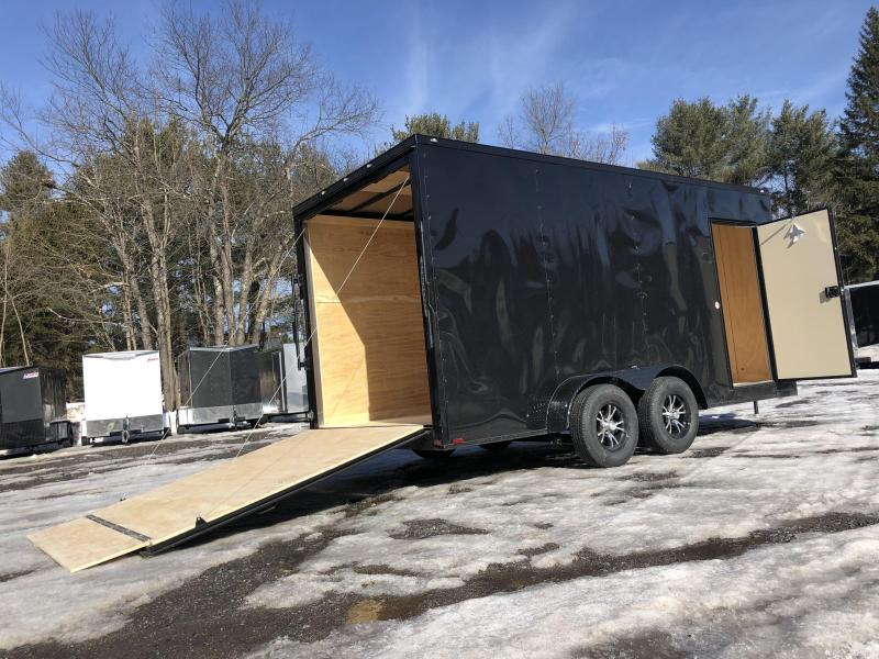 "SALE 2020 Spartan 7X16 +2ft V trailer ramp door/12"" extra height"