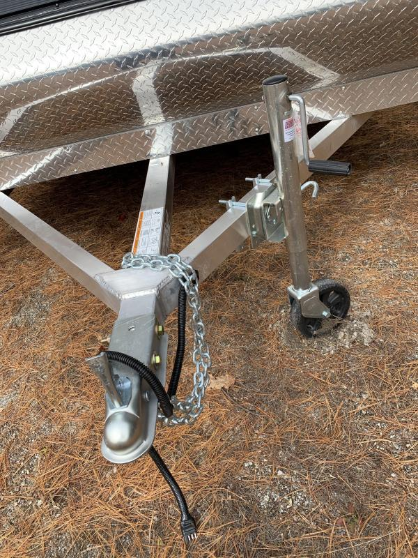 New Mission Aluminum 101x12 Hybrid 2-Place Snowmobile Trailer-W/Track mats