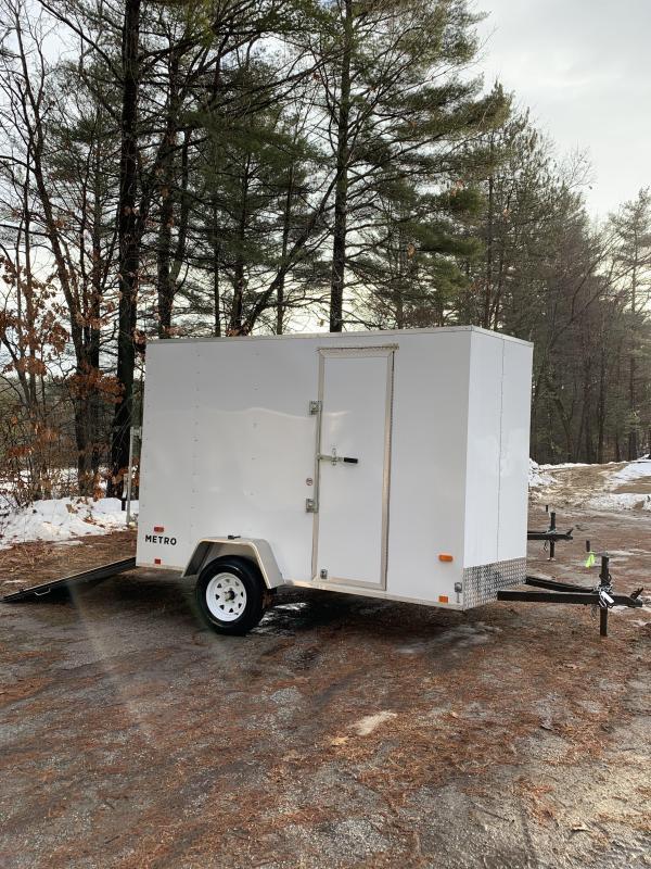 """2020 PACE Metro 6X10 +V-nose trailer ramp door/undercoated frame/6"""""""