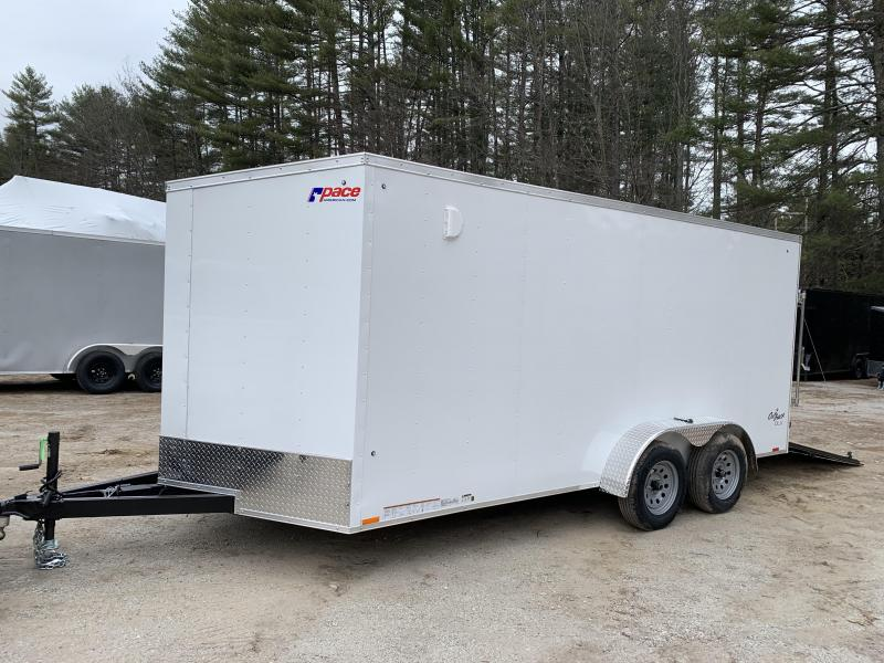 "2021 Pace 7X16 +2ft V trailer ramp/12""extra height"