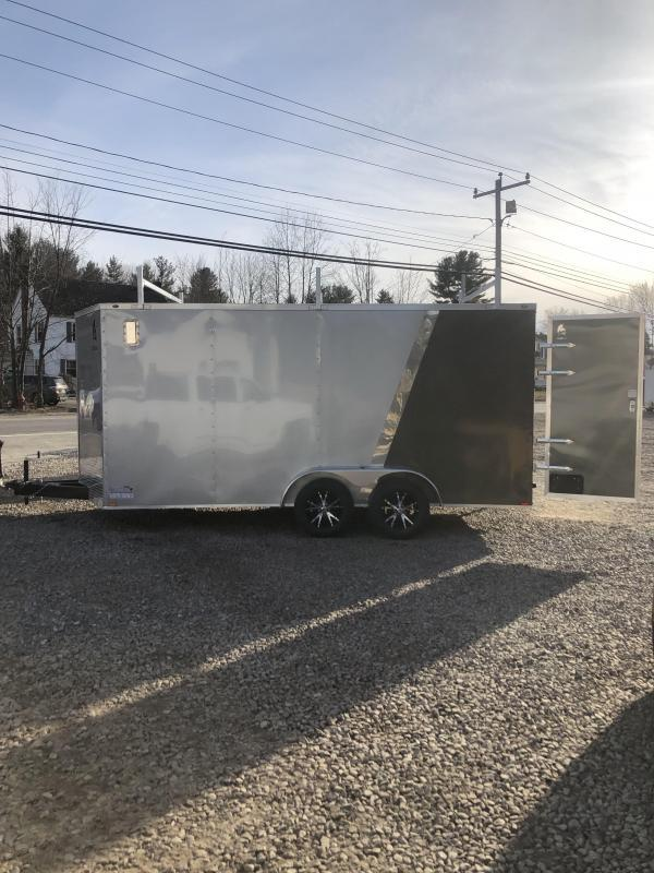 2019 Spartan 7x16 +2ft V Nose Trailer Walk on roof/ladder racks/7' interior