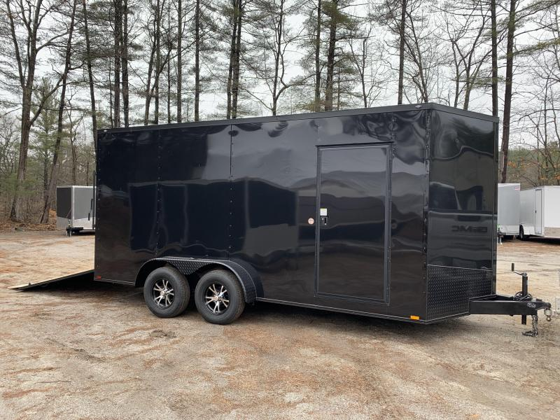 "2020 Spartan 7x16 +2ft V trailer / Black-out /12"" extra height"