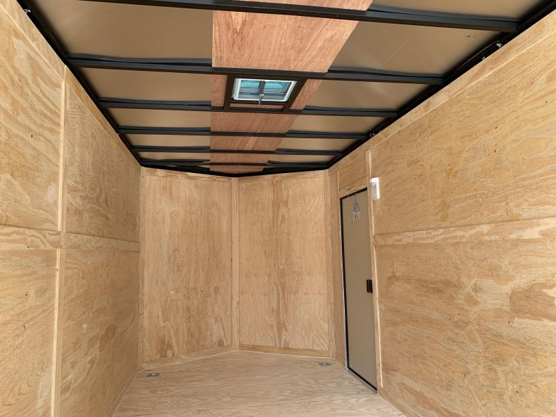 """2020 Spartan 7x16 +2ft V trailer / Black-out /12"""" extra height"""