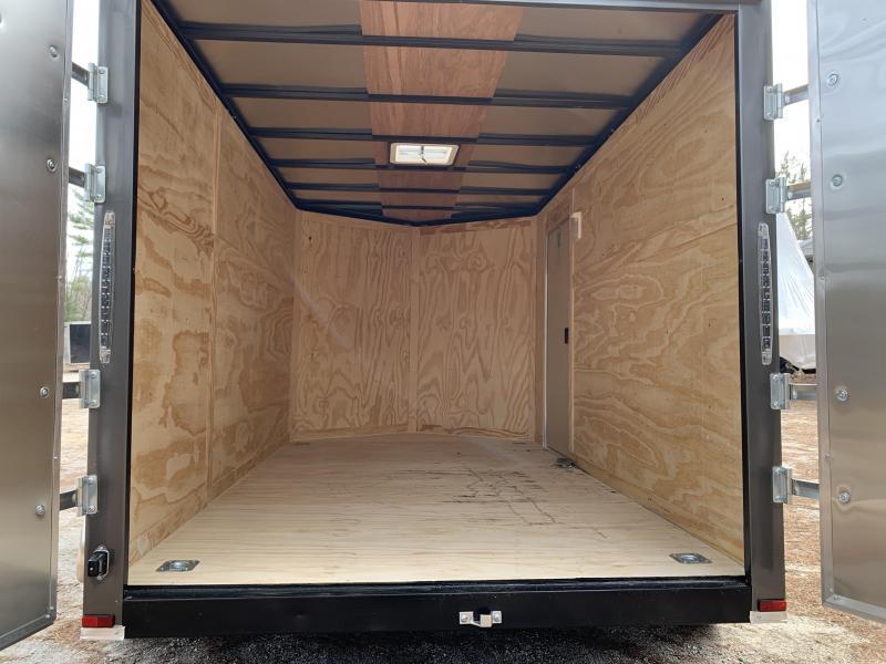 "2020 Spartan 7x12 +2ft V trailer DD doors/6"" extra height"